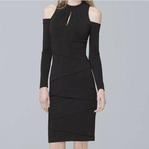 NWT WHBM Cold Shoulder Dress Long Sleeve 14